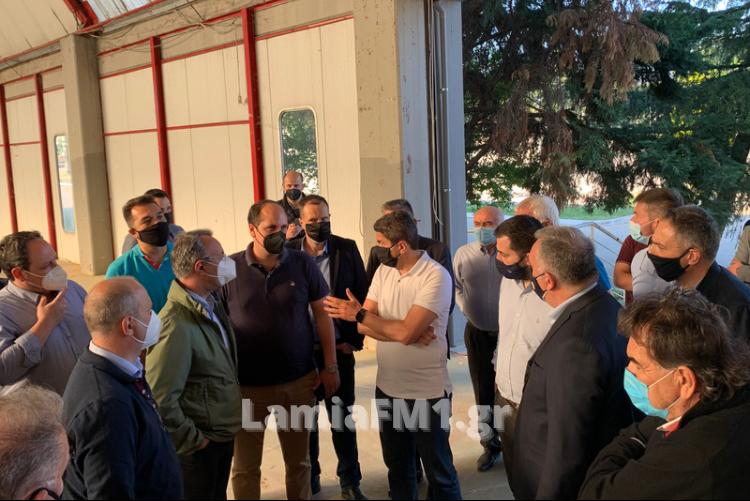 Λαμία: Στην ΠΕΛ ο Αυγενάκης – Επιθεώρησε τις εργασίες για το Ράλι Ακρόπολις (φωτορεπορτάζ)